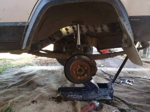 jeep cherokee xj rear outer unibody stiffiner